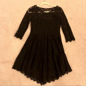 Free People lace dress 3/4 sleeves knee length